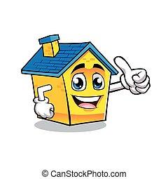 Cartoon House positive hand