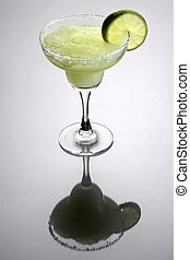 Frozen Margarita Cocktail - Frozen Margarita mixed drink...