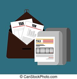 Goverment taxes payday graphic icons, vector illustration...