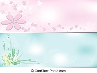 Flower background two tone - Flower background pink and blue...