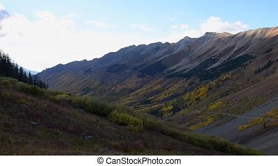 11,814 foot Ophir Pass, southwest Colorado USA - Slow Pan...