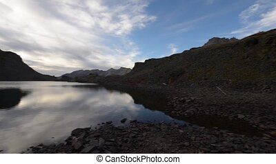 Crystal Lake, at the top of 11,789 foot Ophir Pass, - HD...