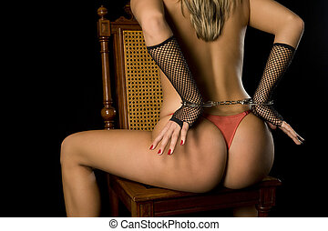 erotic - beautiful woman with perfect body