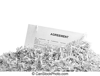 Shredded agreement isolated