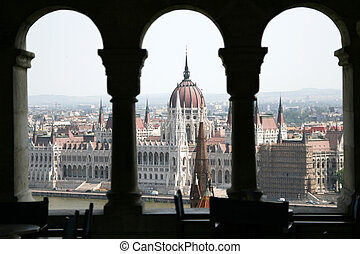 Budapest Parliament Building - View on the Budapest...