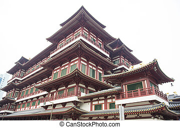 CHINATOWN, SINGAPORE - OCTOBER 12, 2015: buddha tooth relic temple & museum is a very famous in Chinatown, Singapore on October 12, 2015
