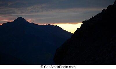 Ophir Pass Colorado Sunset slow pan
