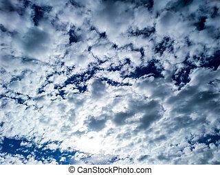 Blur cloud in the blue sky in rainny season