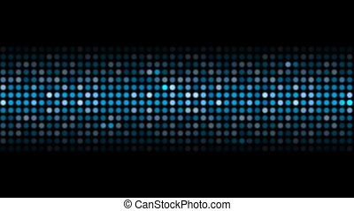 Abstract sparkling blue shiny circles video animation -...