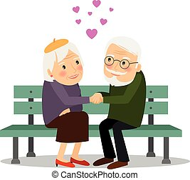 Senior Couple Love - Senior couple in love. Elderly people...