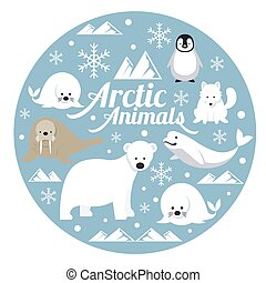 Arctic Animals, Label - Winter, Nature Travel and Wildlife