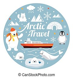 Arctic Travel, Label - Winter, Nature Travel and Wildlife