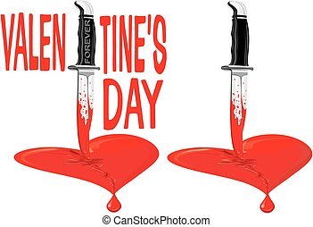broken heart - valentine's day - drive a knife through the...