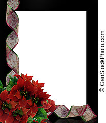 Christmas ribbons frame border