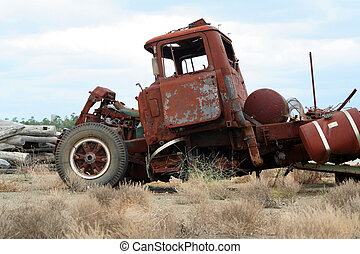 wrecked truck