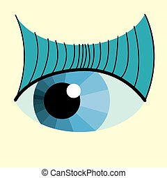 color eye design - Vector color eye design Hi-tech concept...
