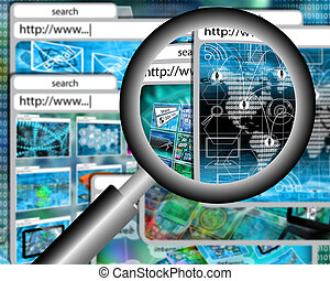 magnifying glass - Many abstract images on the theme of...