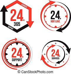 Service and support 24 hours icon