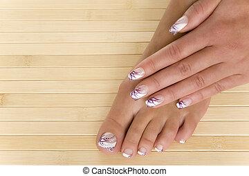 &,  manicure,  pedicure