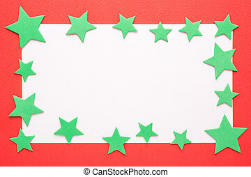 Blank Christmas card with stars