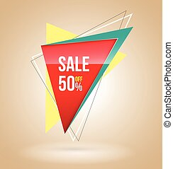 Triangle Sale banner.