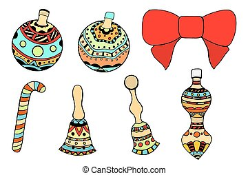 Christmas tree toys Clipart Vector and Illustration. 8,582 ...
