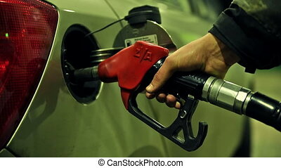 Fuel gas petrol diesel pump - Pumping car with gas petrol...