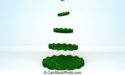 Christmas tree animation. - Christmas tree animation with...