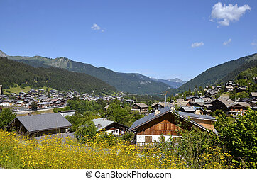 Town of Morzine in France - Town of Morzine in the mountains...
