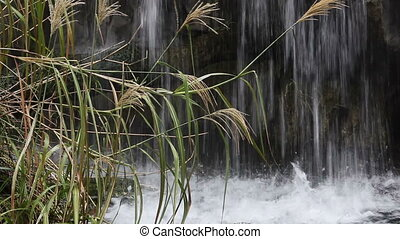 Water cascading down