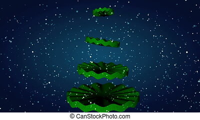 Christmas tree animation. - Christmas tree animation at...