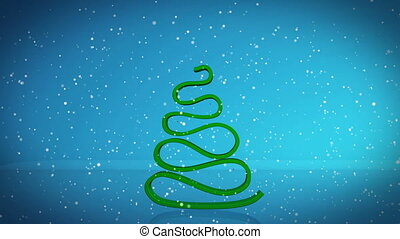 Abstract Christmas tree animation with gift boxes