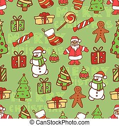 christmas vintage card 1 - Christmas vector seamless...