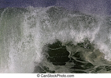 Detailed huge breaking wave - Detailed big Atlantic wave...