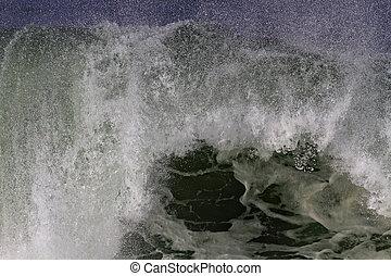 Detailed huge breaking wave - Detailed big Atlantic wave...