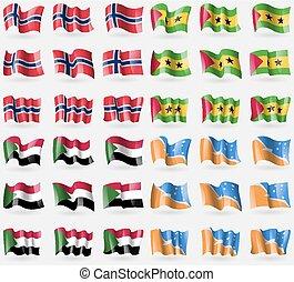 Norway, Sao Tome and Principe, Sudan, Tierra del Fuego...