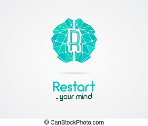 Brainstorm, brain, creation and idea logo template and...