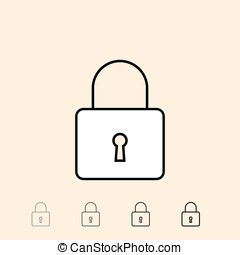 Vector icon of padlock