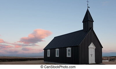 Timelapse Black Church Iceland - Timelapse of the black...
