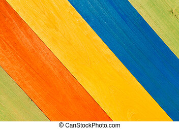Multicolored Wooden Planks in Diagonal for Background