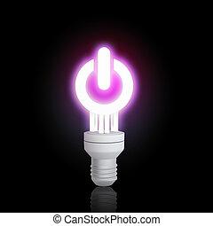 Energy saving concept - Power concept with light bulb...