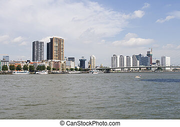 Rotterdam on the Meuse river