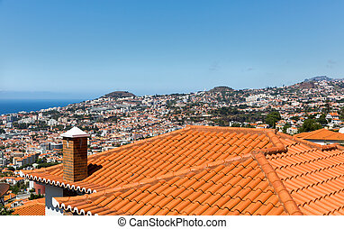 City with little houses - View of the beautiful city with...