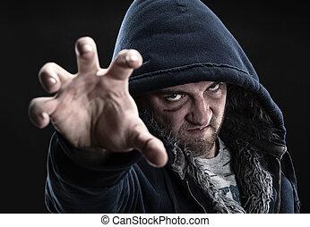 bandido, enojado