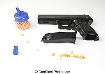 Air gun set. Gun and pellets