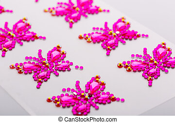 Decorative butterflies - Butterfly symbols made of...