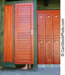 Beach hut - Woman in the beach hut