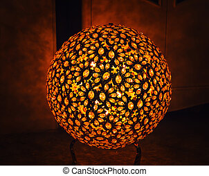 Abstract decorative lamp in the dark