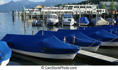 Boats tied up at Jetty - Boats at the Jetty tied up and...