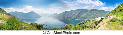 Boka-Kotor Bay, Montenegro - Panorama view of Boka-Kotor...